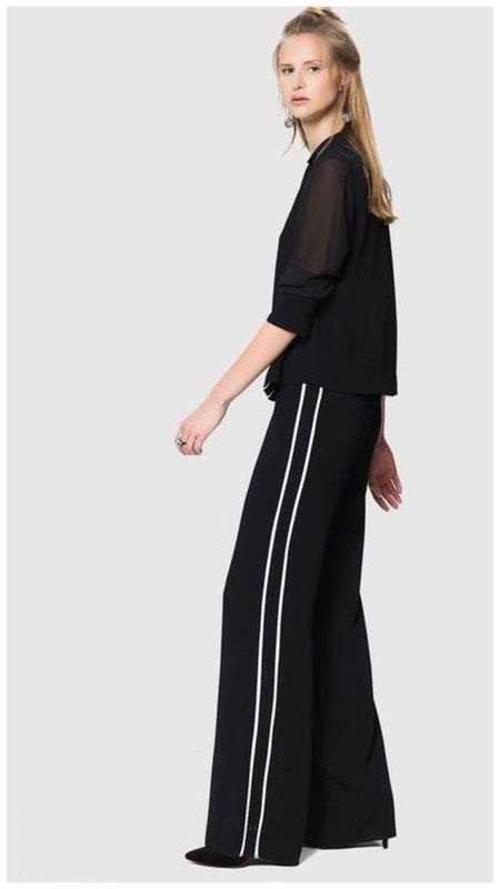 Черные брюки с лампасами для женщин