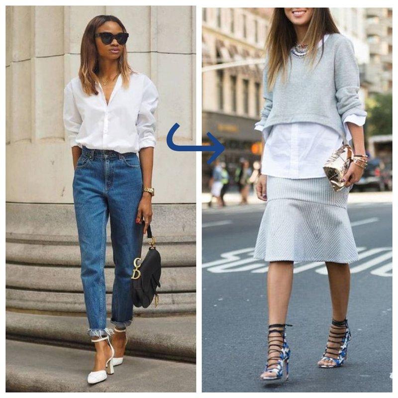Как носить белую рубашку
