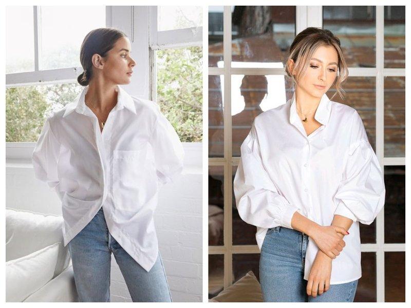 Простые белые рубашки для женщин