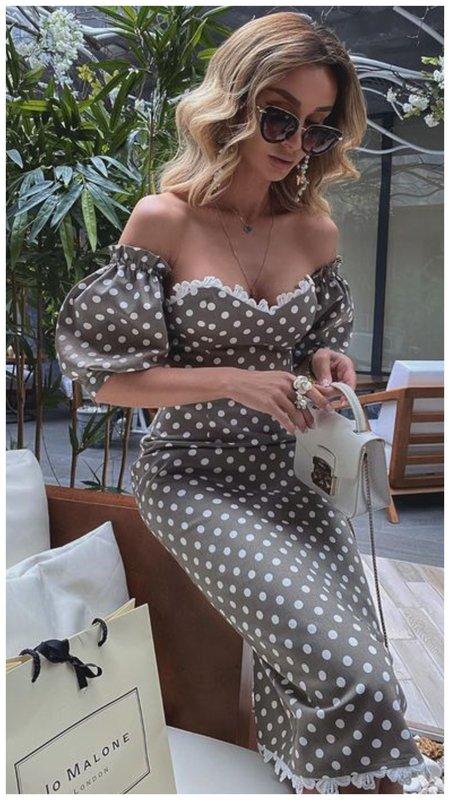 Платье в горох фото