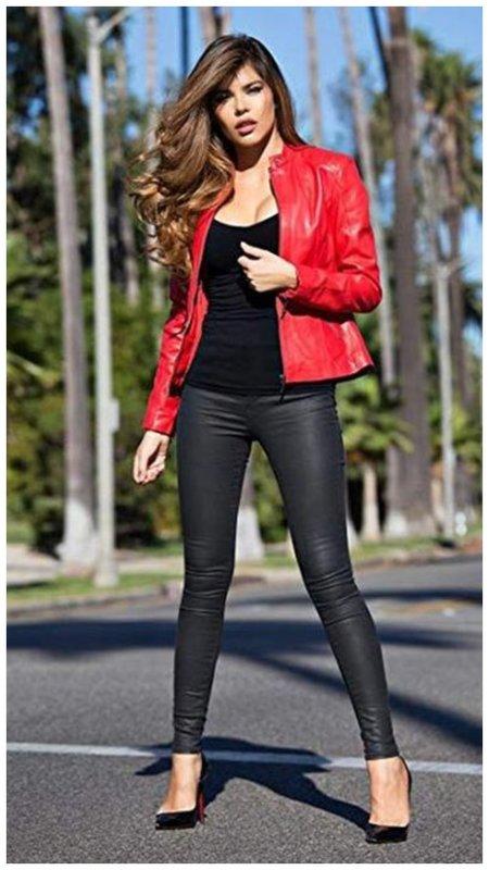 Как сочетать красный и черный в одежде