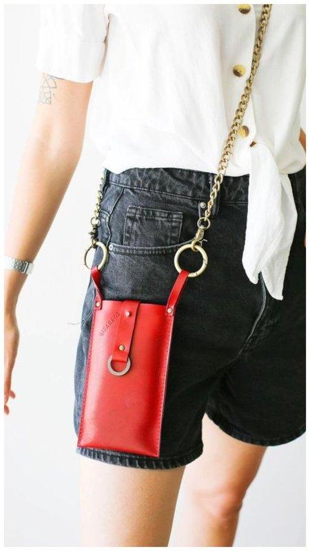 сумка для телефона красная