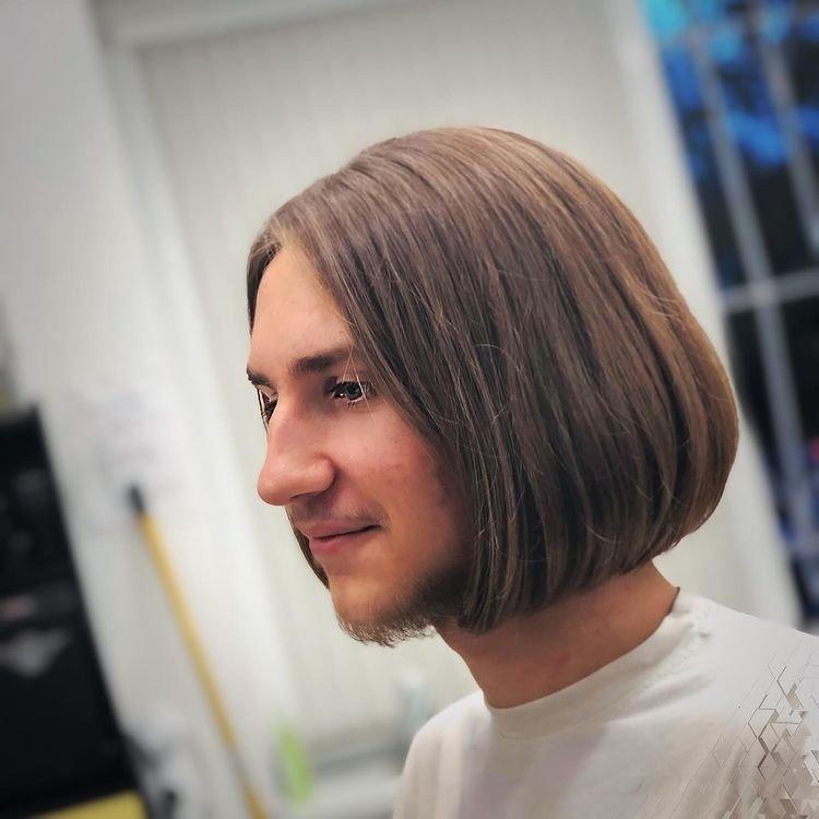 Каре для мужчин на средние волосы