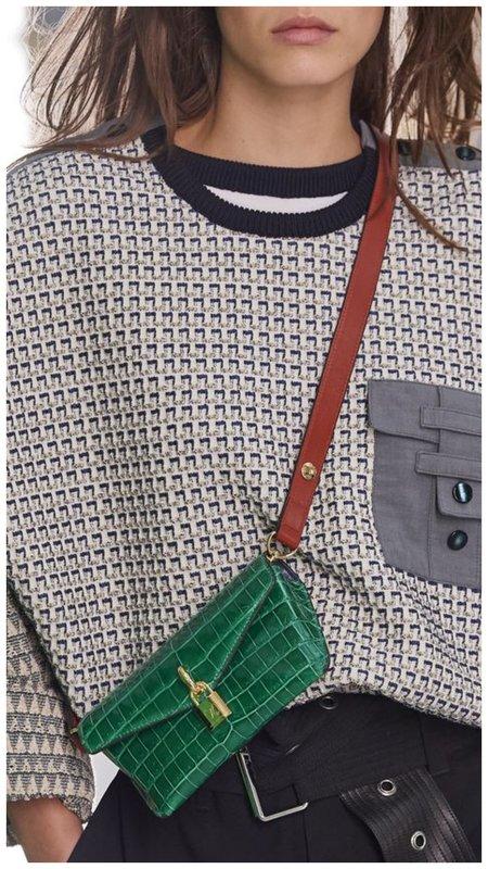 Зеленая сумка для телефона