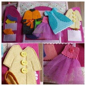 Фетровый гардероб для куклы