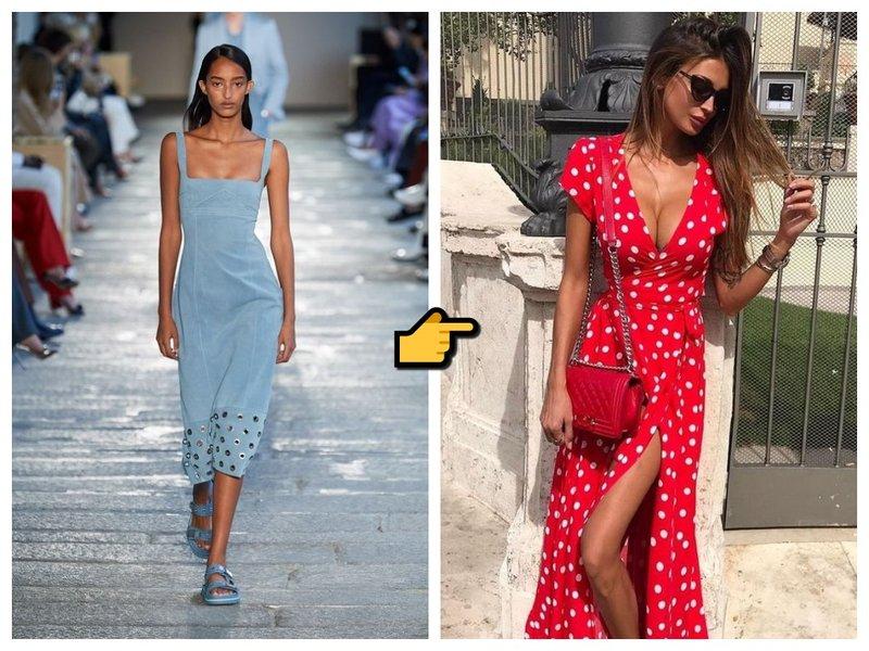 Модное платье лето весна 2021 фото