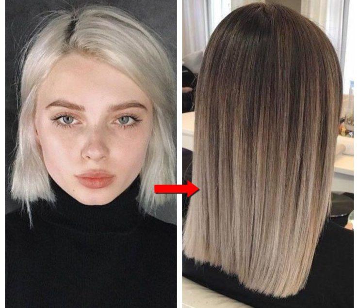 Выход из блонда фото пример