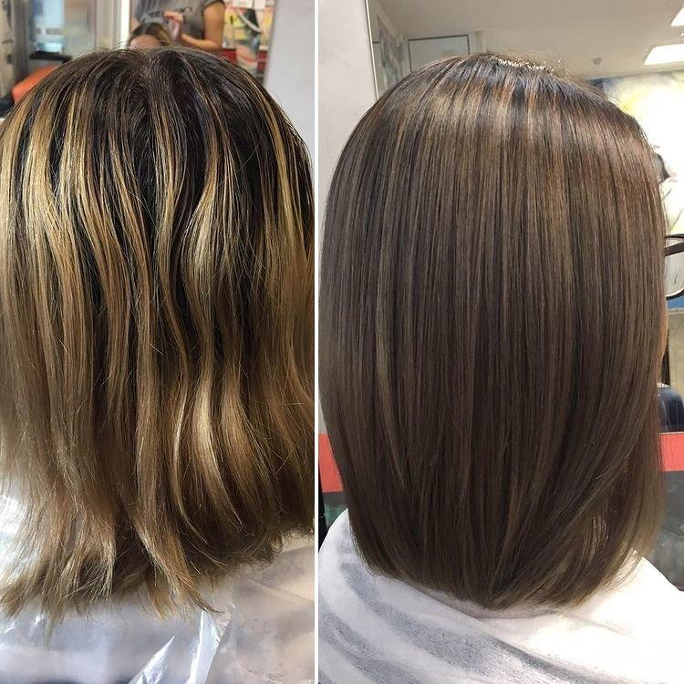Затемнение светлых волос