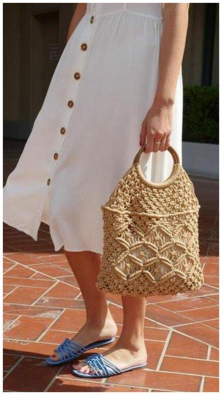 Плетеная сумка на лето фото