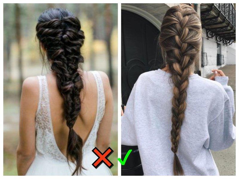 Длинная коса модный и немодный вариант