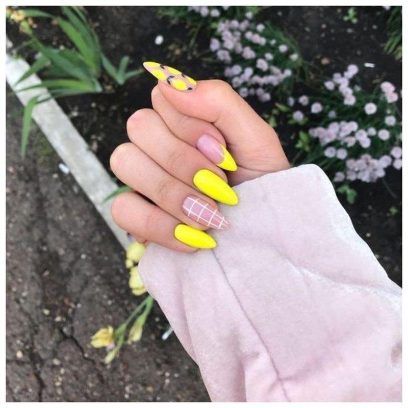Ногти с рукавом фото
