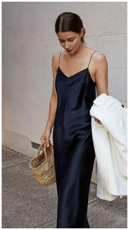 Платье-комбинация синего цвета фото