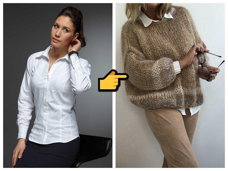 Как носить старую белую рубашку