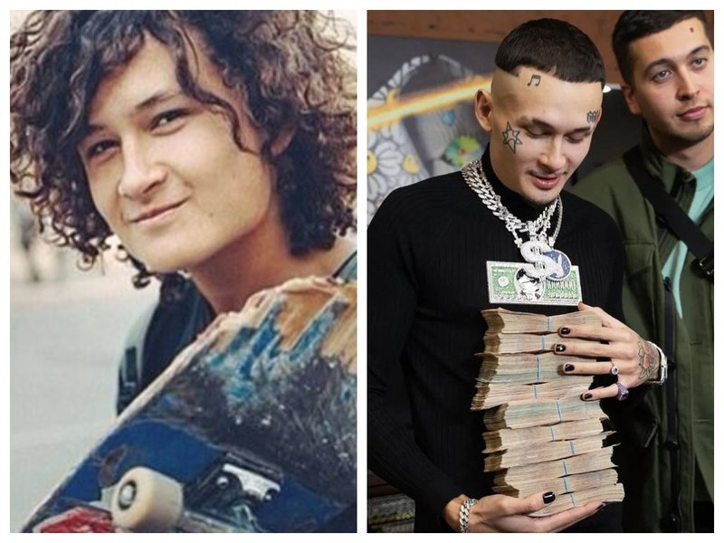 Моргенштерн до и после смены стилиста