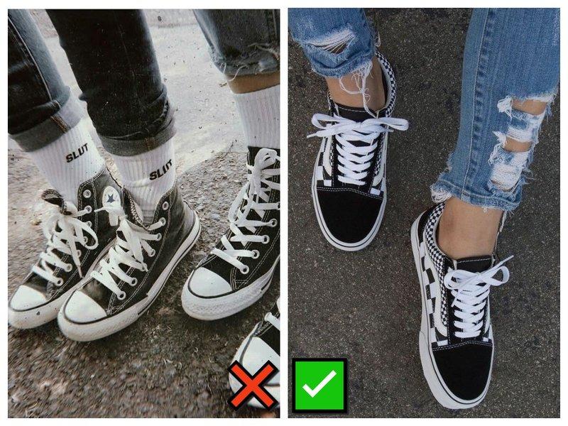 Как носить носки с кедами