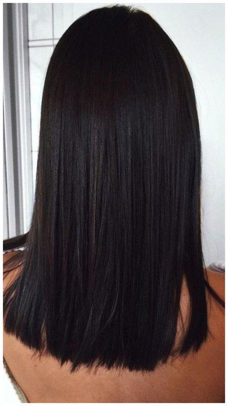 Ровные волосы вид сзади