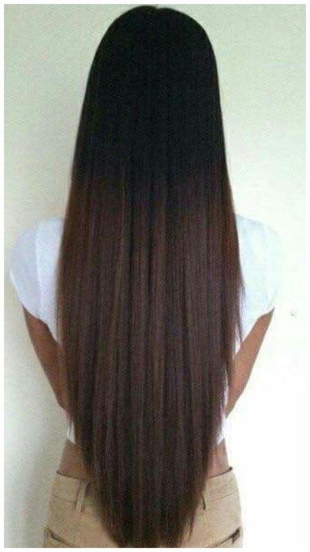 Длинные волосы срез углом