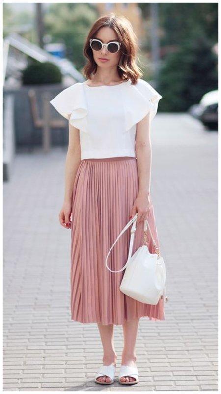 Платье с юбкой на лето