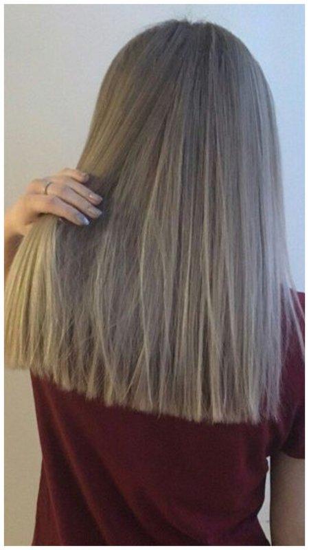 Прямой срез волос фото