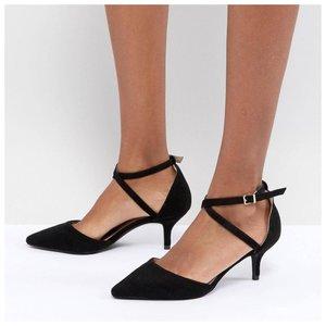 Туфли с каблуком рюмочка черные фото