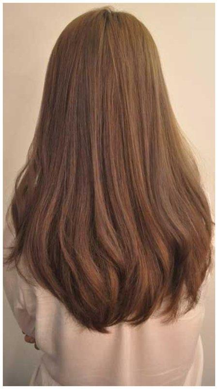 Овальный срез волос сзади