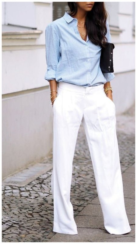 Летние брюки и рубашка фото