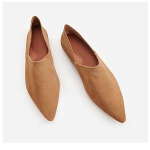 Модные балетки бежевые