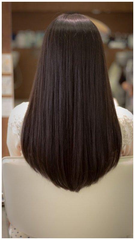 Волосы срез с небольшим углом