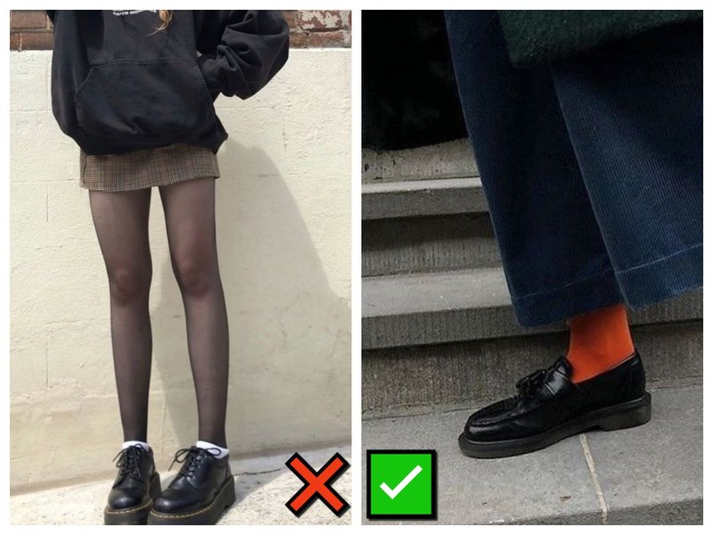 Как носить лоферы с носками