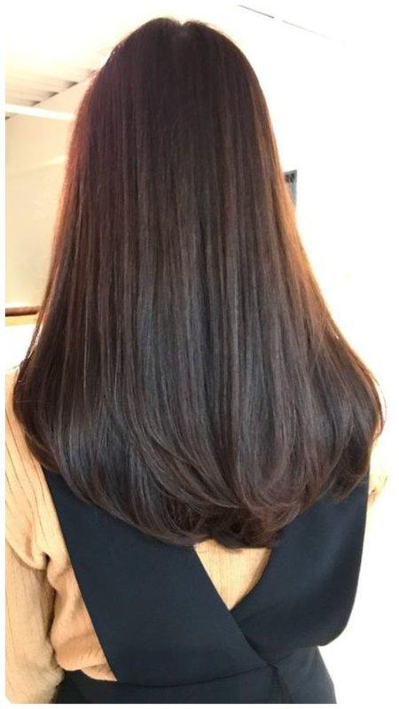 Овальный срез волос фото