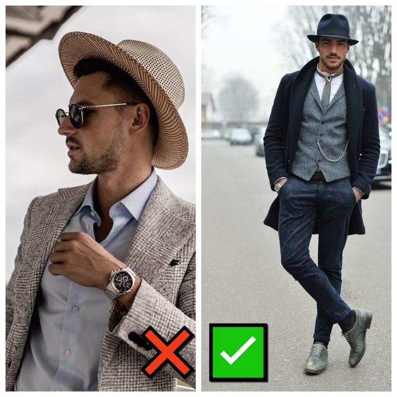 С чем носить шляпу