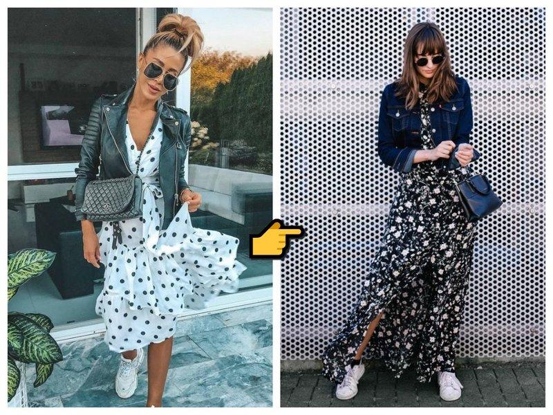 С чем носить легкое платье фото