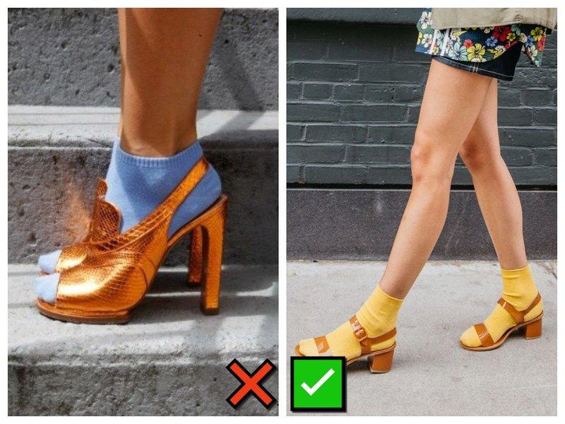 Как носить носки и босоножки