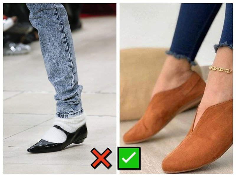 Как носить носки с балетками