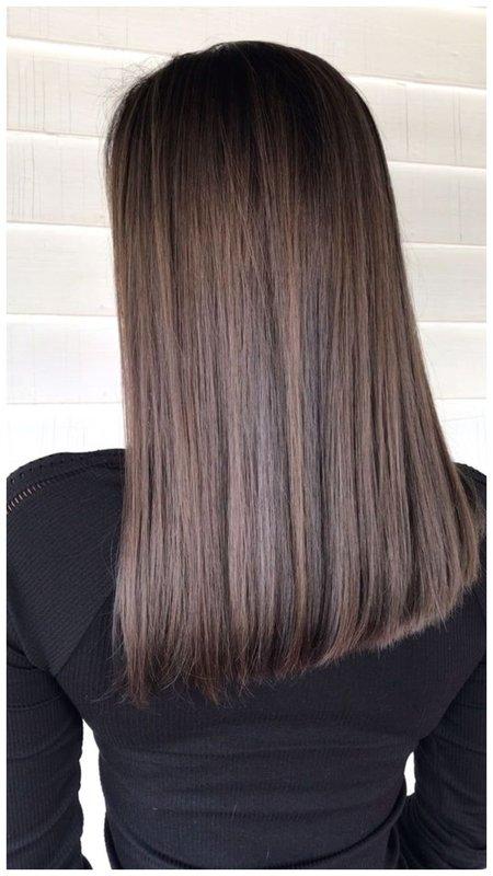 Прямые ровные волосы фото