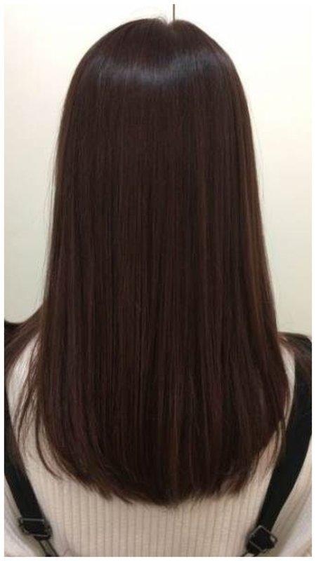 Срез овал - волосы средней длины фото
