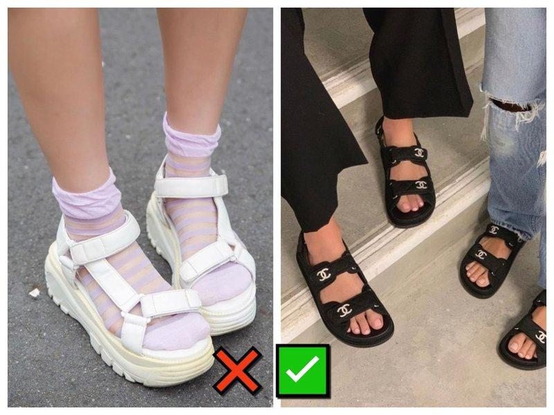 Как носить сандалии и носки