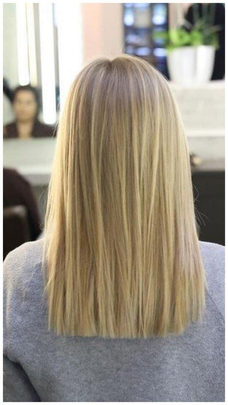 Красивые волосы вид сзади