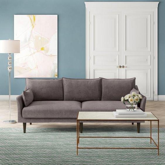 Серый диван в гостиную