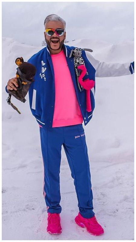 Киркоров в синем костюме