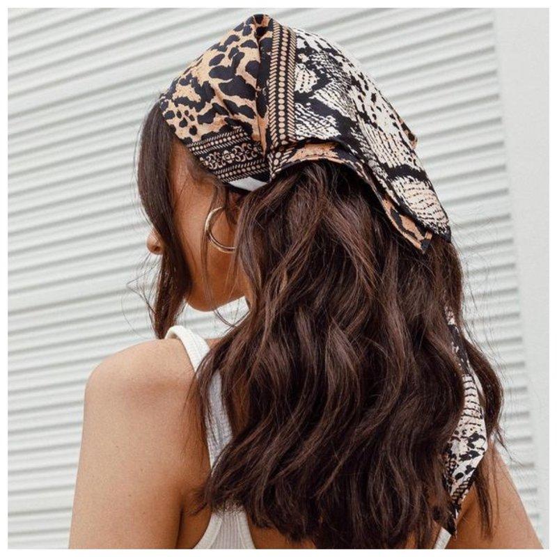 Как носить платок на голове летом