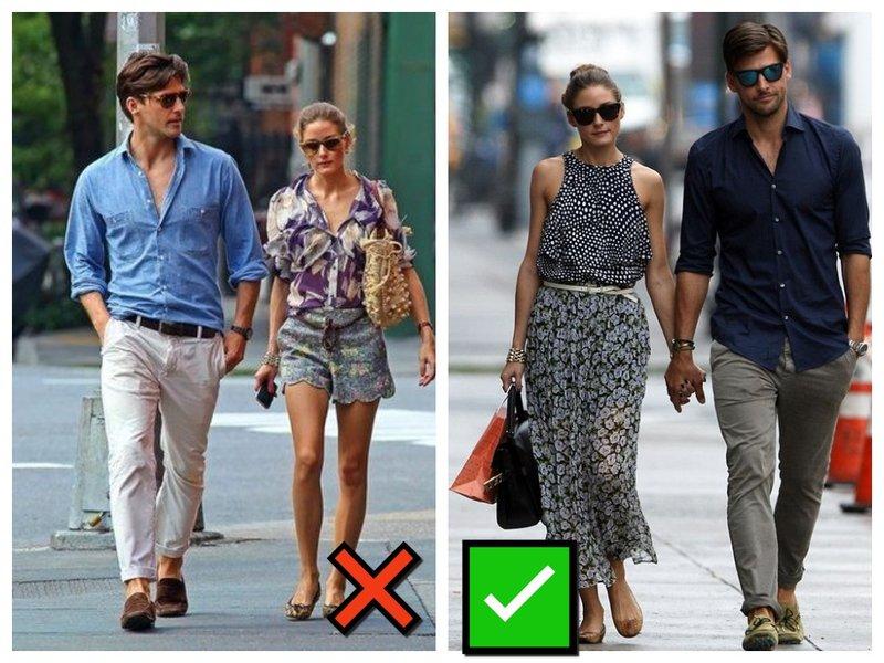 Как паре одеваться летом