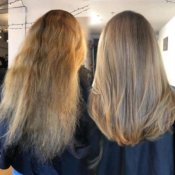 Нанопластика на волосах фото