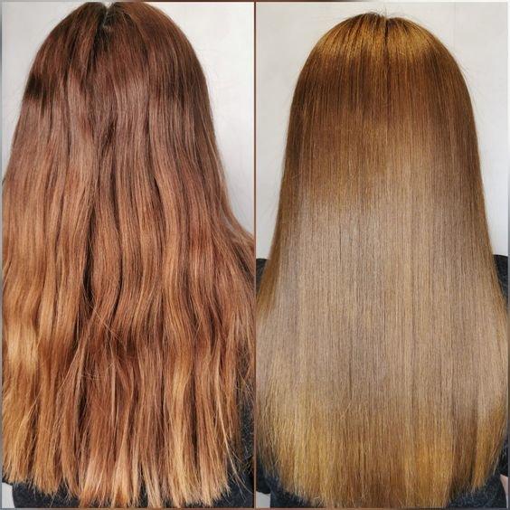 Как выглядит экранирование волос до и после процедуры