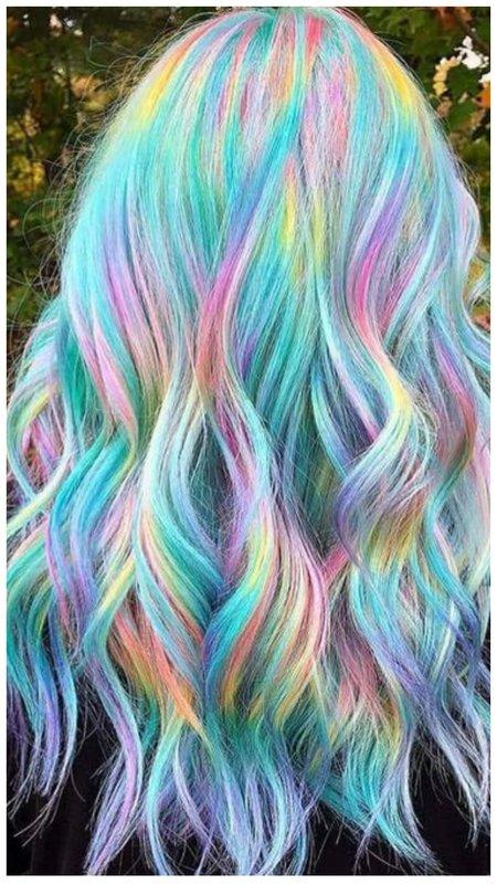Голографика на волосах фото