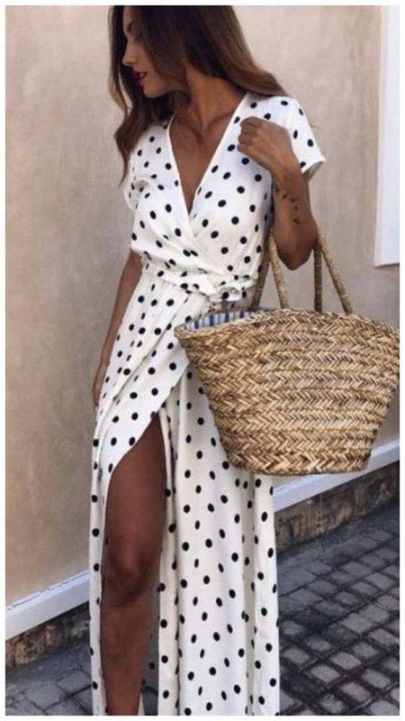 Модное платье на запах для пляжа