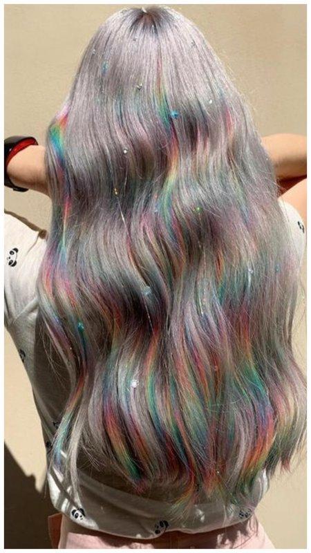 Голографика на волосах