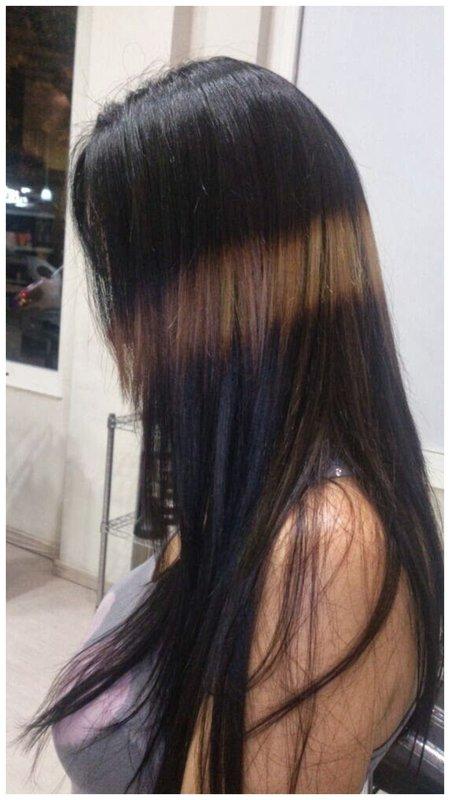 Как выглядит окрашивание волос сплэшлайтс пример