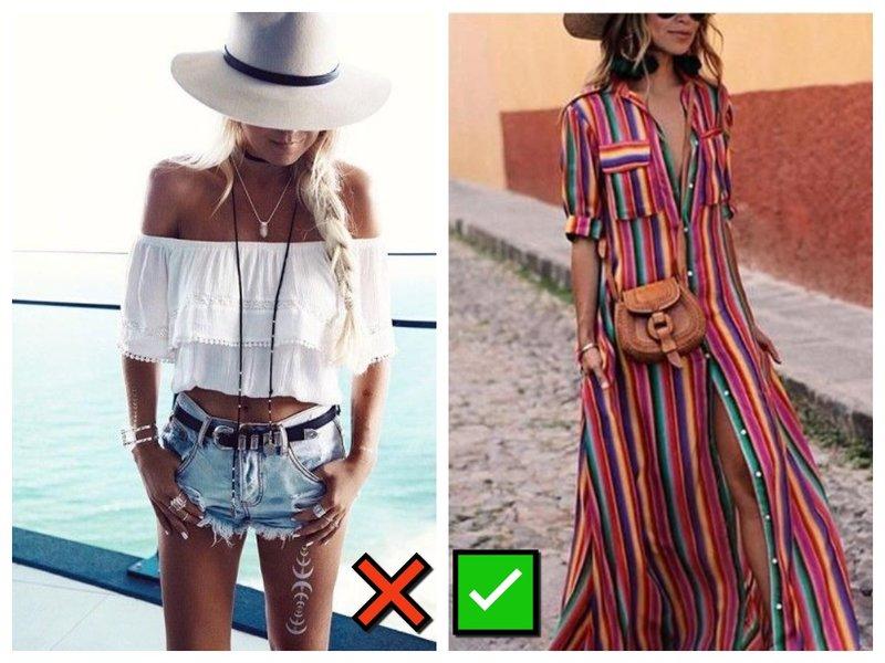 Модные и немодный пляжный образ
