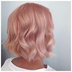 Окрашивание розовое золото